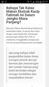 Kesan Kacip Fatimah